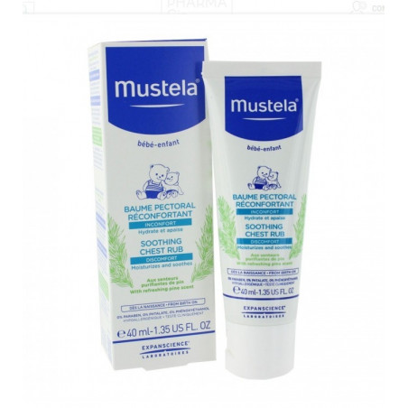 Mustela Baume Pectoral réconfortant. Tube de 40ML