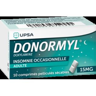 Donormyl 15mg 10 comprimés pelliculés secables