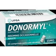 Donormyl Doxylamine 15mg 10 comprimés pelliculés secables