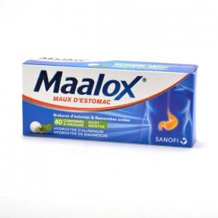 Maalox maux d'estomac 40 comprimés à croquer