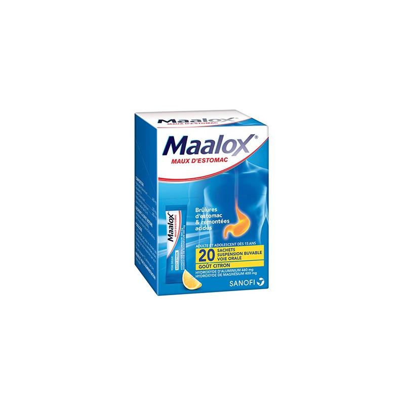 Maalox maux d'estomac suspension buvable 20 sachets