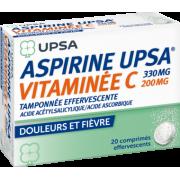 Aspirine Upsa Vitamine C - 20 comprimés effervescents