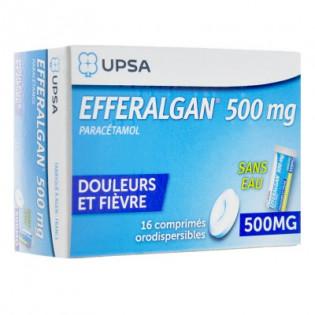 Efferalganodis 500mg 16 comprimés orodispersibles
