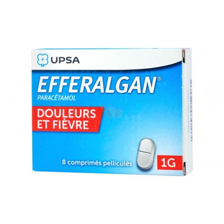 Efferalgan 1G 8 comprimés pelliculés