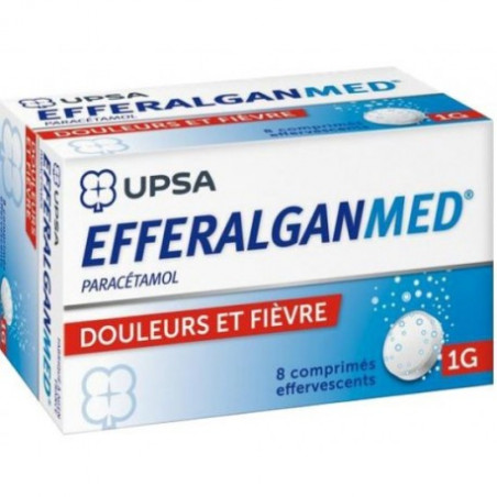 Efferalgan 1gr UPSA boîte de 8cps effervescents