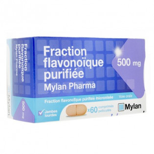 Fraction flavonoïque purifiée 500mg Mylan 60cp