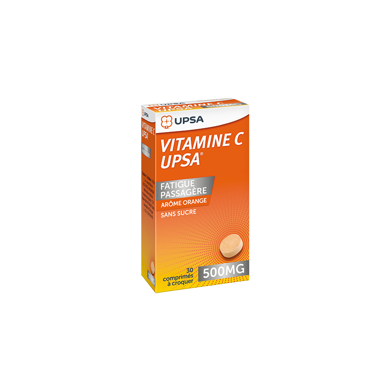 Vitamine C UPSA 500mg boîte de 30 cps à croquer