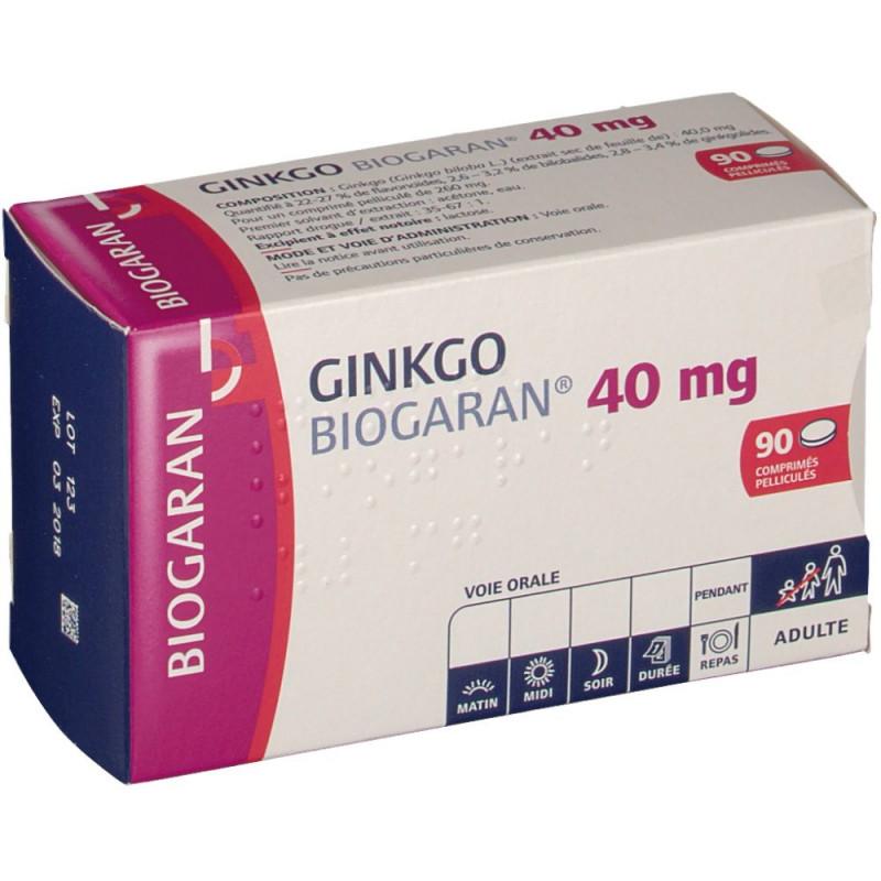 Ginkgo Biogaran 40mg boîte de 90 comprimés
