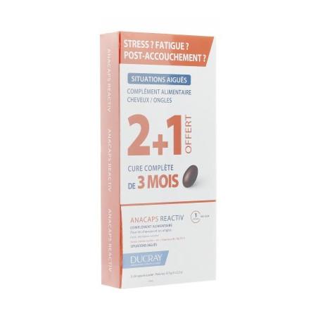 Ducray Anacaps Réactiv. Cure complète de 3 mois.