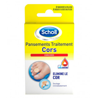 SCHOLL 8 PANSEMENTS TRAITEMENT CORS