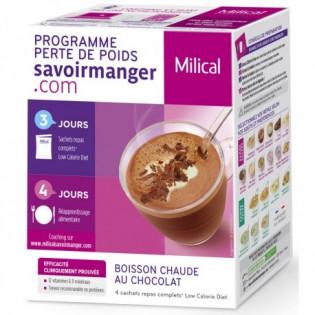MILICAL BOISSON CHAUDE AU CHOCOLAT BOITE DE 4 SACHETS