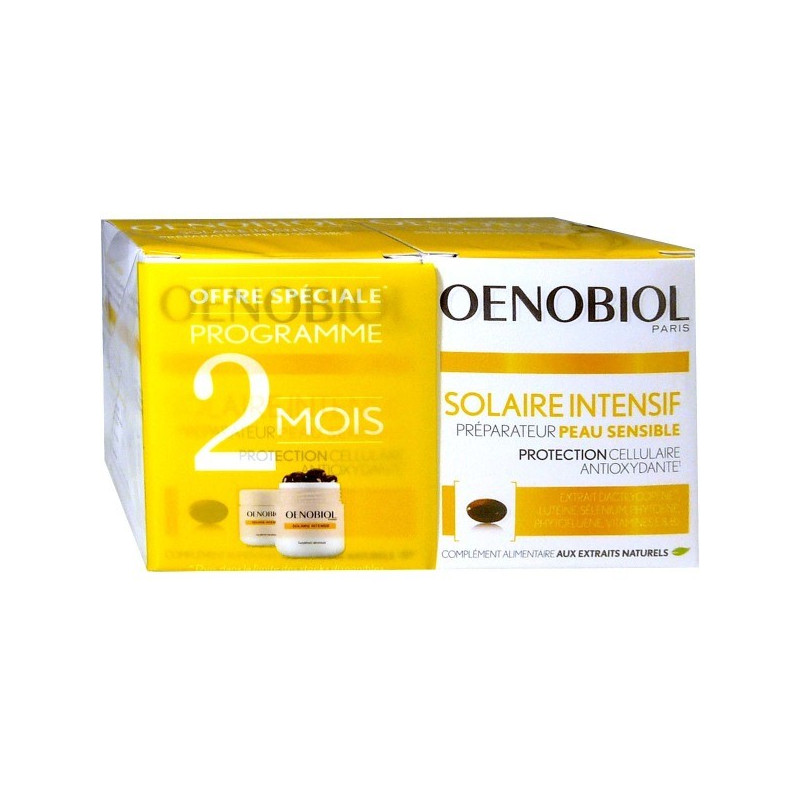 Oenobiol Solaire Intensif Nutriprotection Lot de 2 boites de 30 capsules