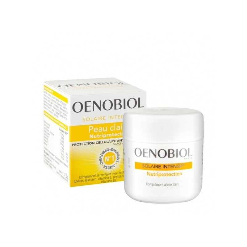Oenobiol Solaire Intensif® Nutriprotection Peaux Claires. 30 capsules