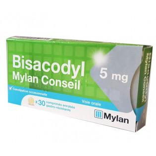 BISACODYL 5MG MYLAN CONSEIL 30 COMPRIMES GASTRO RESISTANTS