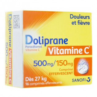 DOLIPRANE VITAMINE C 16 COMPRIMES EFFERVESCENTS