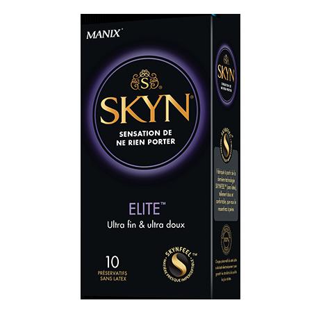 Manix SKYN Elite - Boîte de 10 préservatifs premium sans latex