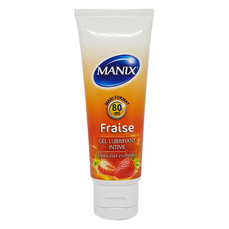 Manix Gel Lubrifiant Fraise. Tube 80ml
