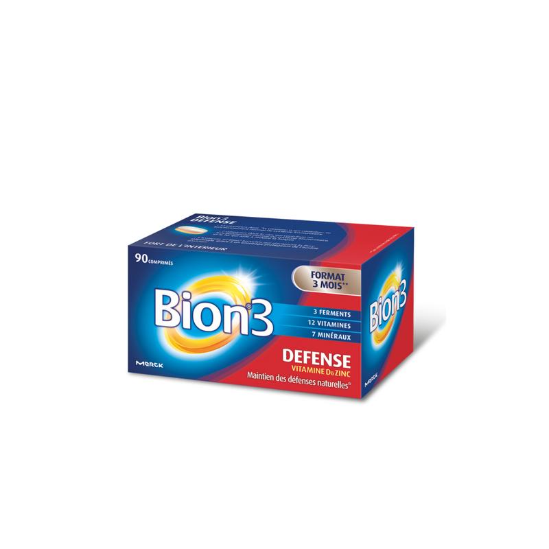 Bion 3 Adultes activateur de santé boîte de 90 comprimés