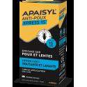 APAISYL ANTI POUX XPRESS 15 LOTION 2 EN 1 TRAITANTE ET LAVANTE DES 2 ANS PEIGNE INCLUS