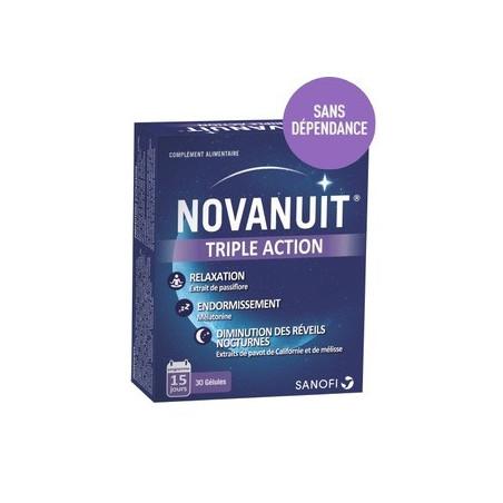 NOVANUIT Sommeil triple action 30 gélules 15 jours