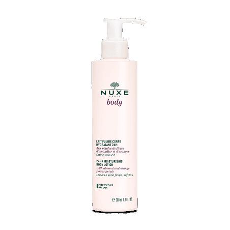 NUXE Body Lait Fluide Corps Hydratant 24h. Flacon pompe 200 ml