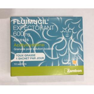 FLUIMUCIL 600MG 10 SACHETS