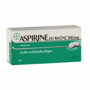 ASPIRINE DU RHONE 500MG 50 COMPRIMES