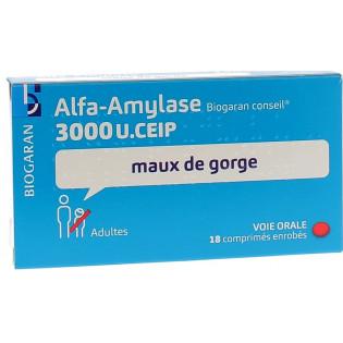 ALFA AMYLASE BIOGARAN 18 COMPRIMES ENROBES