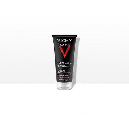 Vichy Homme Hydra Mag C Gel Douche Corps & Cheveux. Tube 200ML