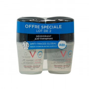 Vichy HOMME DEODORANT 48H anti transpirant anti-traces protection chemise BILLE. Lot 2x50ML