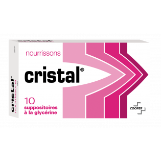 CRISTAL NOURRISSONS 10 SUPPOSITOIRES A LA GLYCERINE