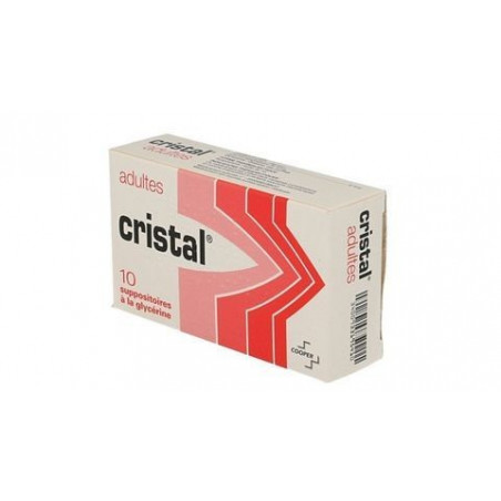 CRISTAL ADULTES 10 SUPPOSITOIRES A LA GLYCERINE