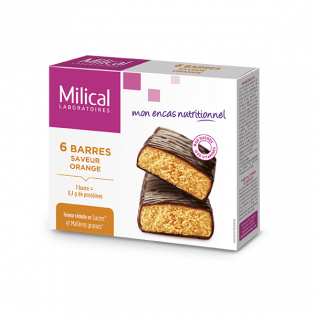 Milical 6 barres minceur saveur orange