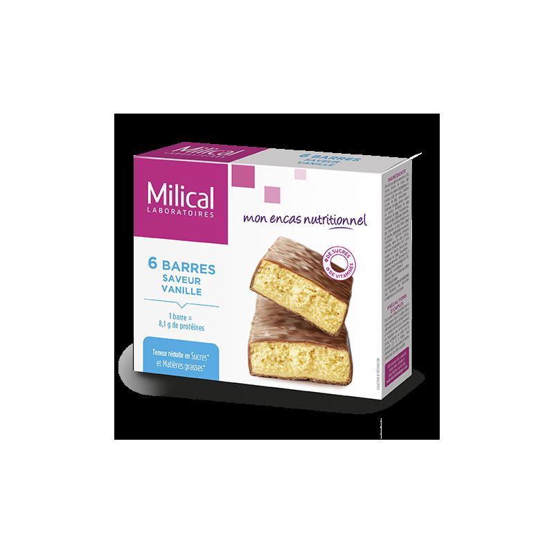 Milical 6 barres minceur saveur vanille