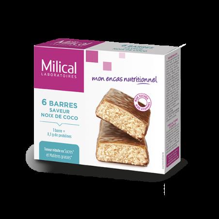 Milical 6 Barres protéinées saveur noix de coco