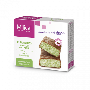 Milical 6 barres minceur saveur pistache