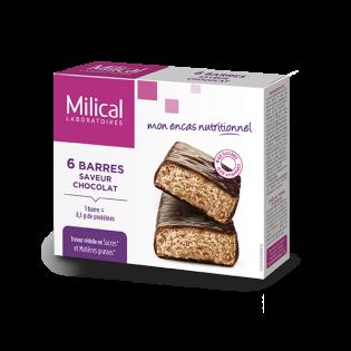 Milical 6 barres minceur saveur chocolat