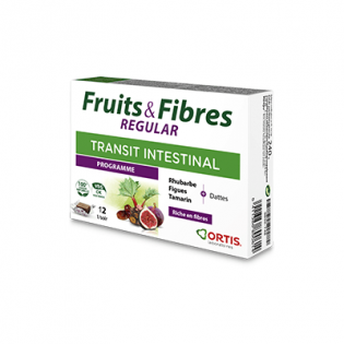 FRUITS & FIBRES FORTE ACTION RAPIDE 12 CUBES