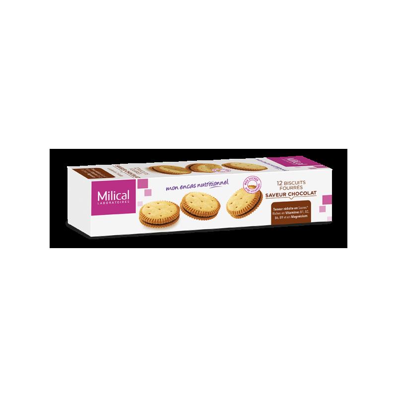 MILICAL 12 BISCUITS FOURRES SAVEUR CHOCOLAT