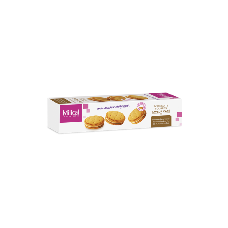 MILICAL 12 BISCUITS FOURRES SAVEUR CAFE