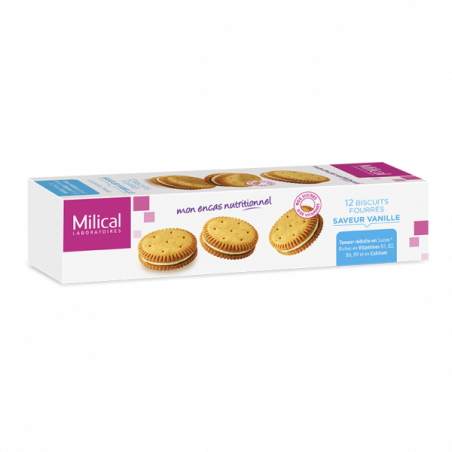 MILICAL 12 BISCUITS FOURRES SAVEUR VANILLE