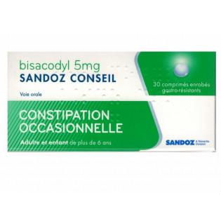 BISACODYL SANDOZ CONSEIL 30 COMPRIMES ENROBES GASTRO RESISTANTS