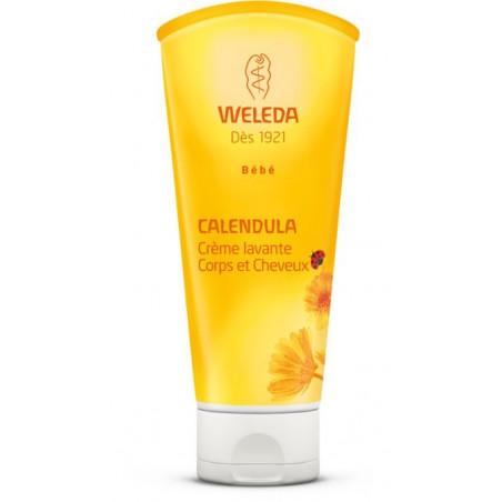 WELEDA BEBE CALENDULA DUO Crème lavante Corps et Cheveux. Tube 2X200ml