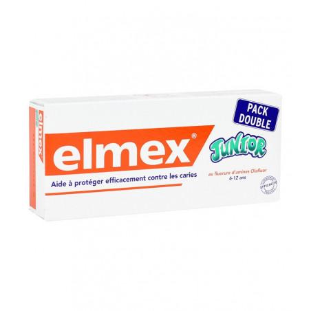 Elmex Dentifrice Junior 6-12 ans (Lot de 2 Tubes 75ML)