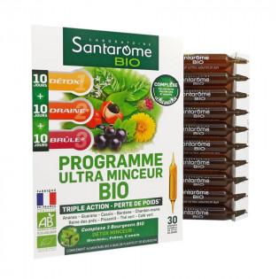 SANTAROME BIO PROGRAMME ULTRA MINCEUR BIO 30 AMPOULES BUVABLES 1 MOIS