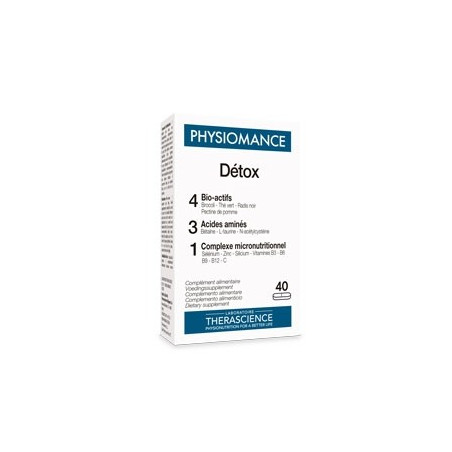 therascience PHYSIOMANCE DETOX 40 COMPRIMES