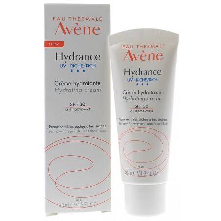 NOUVEAU Avène Hydrance UV-Riche Crème hydratante SPF30. Tube 40ml