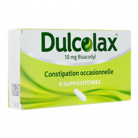 DULCOLAX 10 MG BISACODYL 6 SUPPOSITOIRES