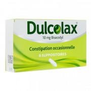 DULCOLAX 10 MG BISACODYL 6 SUPPOSITOIRES