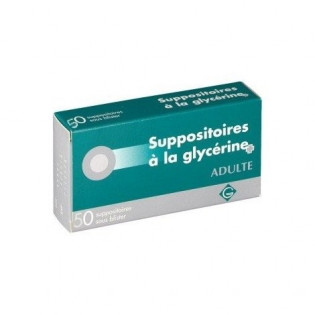 10 SUPPOSITOIRES A LA GLYCERINE ADULTES